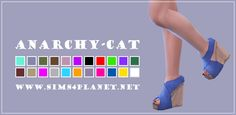 Anarchy-Cat: Madlen`s Barna Shoes recolor • Sims 4 Downloads