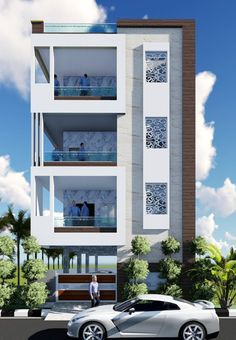 The exterior is the face of the house that everyone will see in the first part. Take a look at the world's most beautiful modern homes and find House Outer Design, House Outside Design, Classic House Design, House Front Design, Indian House Exterior Design, Modern Exterior House Designs, Modern House Design, 3 Storey House Design, Bungalow House Design