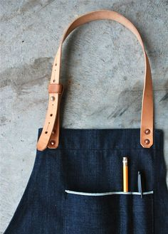 Prototype Selvedge-Leather Apron from American Native.