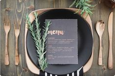Rosemary accents on tables
