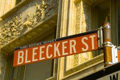 Bleecker Street in SOHO District, New York. Going in the winter I hope!