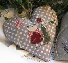 Herz mit Engel- Weihnachten- Landhaus von Feinerlei auf DaWanda.com, 14x15, 9,9