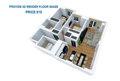 model your floorplan into 3D by SketchUp fastest by tungduongarch
