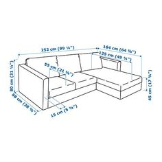 VIMLE Sofa, with chaise, Orrsta black-blue with chaise/Orrsta black-blue