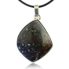 """A great Koroit stone with a classic pattern in single bezel, all at a good price."""" Opal from Koroit, Queensland, Australia"""