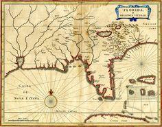 """""""Florida et Regiones Vicinae"""" Date: ca. 1640 Creator: Joannes de Laet, 1581-1649"""