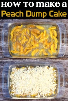 Easy Dessert Recipes With Few Ingredients! Craving something sweet and delicious? You're absolutley going to love this peach cobbler! Desserts Menu, Dessert Recipes, Homemade Desserts, Fall Desserts, Dump Cake Recipes, Dump Cakes, Poke Cakes, Frosting Recipes, 4 Ingredient Desserts