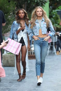 Jasmine Tookes and Romee Strijd..