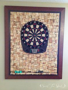 DIY- Every man-cave needs a wine cork dart board!
