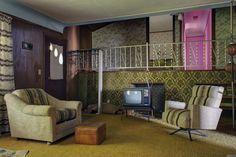 That retro 1970's rec-room #abandoned #Ontario #retro #recroom #vintage