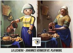 37 Obras de Arte Clasicas hechas con Playmobil / 37 Classical Artworks remakes with Playmobil Legos, Star Wars Personajes, Johannes Vermeer, Famous Art, Photoshop, Oeuvre D'art, Art For Kids, Art Pieces, Sculptures