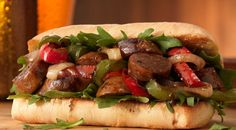 Check out this delicious recipe for Italian Sausage and Pepper Sandwiches from Weber—the world& number one authority in grilling. Sausage Sandwich Recipes, Sausage And Peppers Sandwich, Italian Sausage Sandwich, Sausage Sandwiches, Italian Sausage Recipes, Wrap Sandwiches, Grilling Recipes, Pork Recipes, Cooking Recipes