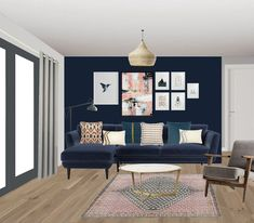 Visual of eclectic lounge apartment, South London. South London, Dining Bench, Lounge, Room, Furniture, Home Decor, Style, Airport Lounge, Bedroom