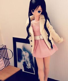 Mornings and nights are cold lately.  Need a coat. #azonejp #azonedoll #excute #えっくすきゅーと #dollfashion #pureneemo #o44_aika_4th