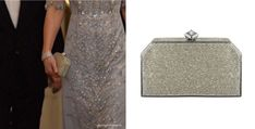 Finally, Kate is carrying a coordinating box clutch bag, also designed by Jenny Packham.  It's named the 'Casa' clutch.