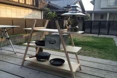 キャンプ 棚 木 自作 DIY