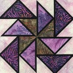 Stained Glass Sailor Skies Quilt Block Pattern foundation piecing