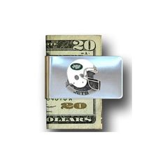 Head Can You Ever Have Too Much Funny Humor Retro Satin Chrome Plated Metal Money Clip