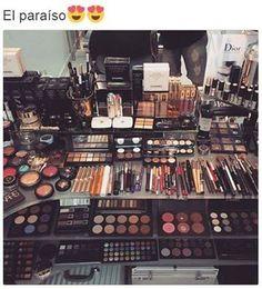 Trendy makeup goals collection make up ideas Make Up Kits, Beauty Make-up, Beauty Case, Hair Beauty, Makeup Storage, Makeup Organization, Makeup Collection Storage, Make Up Collection, Skin Makeup