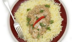 Jogurtové kuracie kúsky Risotto, Grains, Rice, Ethnic Recipes, Food, Essen, Meals, Seeds, Yemek