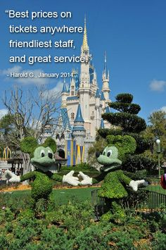 Thanks for sharing, Harold! We're glad we could save you money on your Disney tickets! #WeLoveOurCustomers