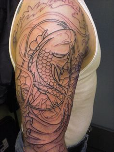 koi tattoos | Koi Fish Tattoos Sleeve – Designs and Ideas