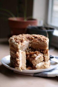 apple pie cheesecake layer cake // The Pancake Princess