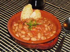 Zuppa piccante di fagioli borlotti con pancetta affumicata