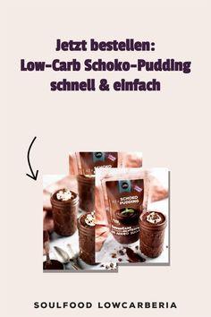 Mit der Lower Carb* Puddingmischung Schoko gibt es endlich den leckeren Soulfood LowCarberia Pudding für zu Hause.Tolle Konsistenz und tolle Nährwerte, ohne Zucker, ohne Stärke, Glutenfrei, Laktosefrei und Vegan 1 Packung ergibt 10 Portionen 0,0g Zucker kohlenhydratreduziert* Glutenfrei Mit Nussmilch auch Laktosefrei Nur mit Erythrit & Stevia gesüßt Eignet sich auch perfekt für Torten Low Carb Restaurants, Low Carb Dessert, Stevia, Donuts, Brownies, Pudding, Vegan, Desserts, Gluten Free Cooking