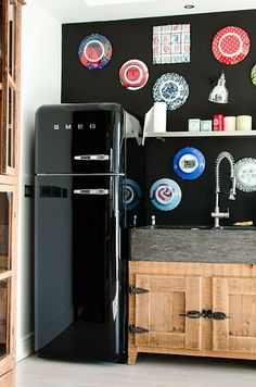 Black smeg fridge