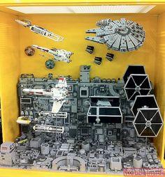 LEGO 'Death Star Attack' Diorama
