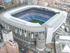I Also want to visit Santiago Bernabeu. Madrid (España) because its one of the most famous stadiums in the world and their country is full of soccer fanatics Soccer Stadium, Football Stadiums, Real Madrid Manchester United, Madrid Football Club, Santiago Bernabeu, Portugal, Fc Barcelona, Barcelona Soccer, Travel Goals