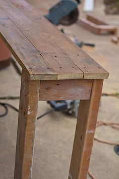 diy console table...for behind the couch.  I have been looking for actual instructions for MONTHS