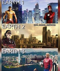Who protects the different earths the flash speedsters