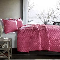 Look what I found on Blue Nya Quilt Set -- I used to have a bed set similar to this. Such a serene color to come home to~ Perfect for busy lifestyles who need color therapy after their crazy days. Bed Sets, Pink Bedding, Bedding Sets, Home Bedroom, Bedroom Decor, Bedroom Ideas, Bedrooms, Pink Quilts, Big Girl Rooms
