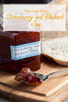 There is no need to add pectin when making this easy and absolutely delicious Strawberry and Rhubarb Jam. Rhubarb Recipes, Jam Recipes, Fruit Recipes, Summer Recipes, Sweet Recipes, Canning Recipes, Easy Strawberry Jam, Strawberry Recipes, Recipe Creator