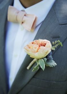 peach garden rose boutonniere were going to the chapel pinterest gardens dads and the ojays