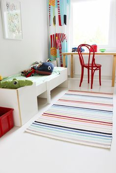 Boys' room / White and colour / Fresh / Ton / Thonet / Artek / Muurame / Marimekko