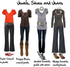 """""""Jewels, Shoes and Jeans"""" by imogenl on Polyvore"""