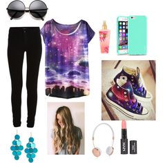 in the car by princessjace on Polyvore featuring VILA, Converse, Kenneth Cole, Frends and Insten