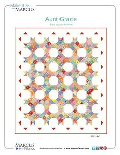 Aunt Grace Free Quilt Pattern by Judie Rothermel through Marcus Fabrics