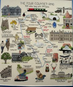 One for canal enthusiasts - there are a whole range of canal maps on this wonderful site.