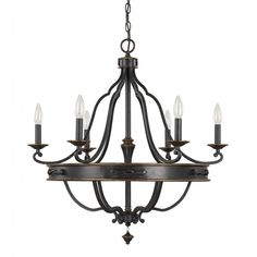 Create a traditional atmosphere in your home by adding this classic 6-light chandelier to the decor in your home. Featuring a lovely surry finish, this light will definitely catch the attention of your guests.