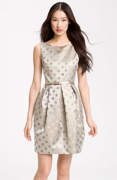 Eliza J Belted Satin Dress | Nordstrom