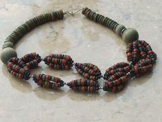 Beaded safari necklace jewellery | wooden jewellery | Jewels & Finery UK
