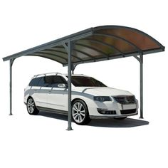 The upscale style of the Vitoria™ 5000 carport makes it a versatile all-around structure. Protect your car from the elements or create an enjoyable sitting area anywhere. Over 9 feet of entry width an