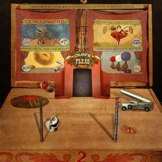 John Craw's 17 Cigar Box Entomological Odditorium and Flea Circus by crowolf, via Flickr