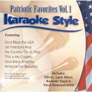 Patriotic Songs, Volume 1, Karaoke Style CD