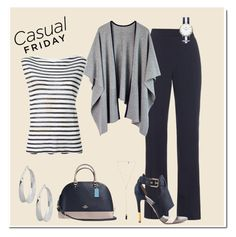 """""""'casual Friday'"""" by karenskloset ❤ liked on Polyvore featuring MaxMara, T By Alexander Wang, Coach, Natalie B, Pour La Victoire and Robert Lee Morris"""
