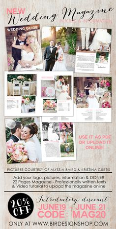 Wedding Digital Magazine template for photographers